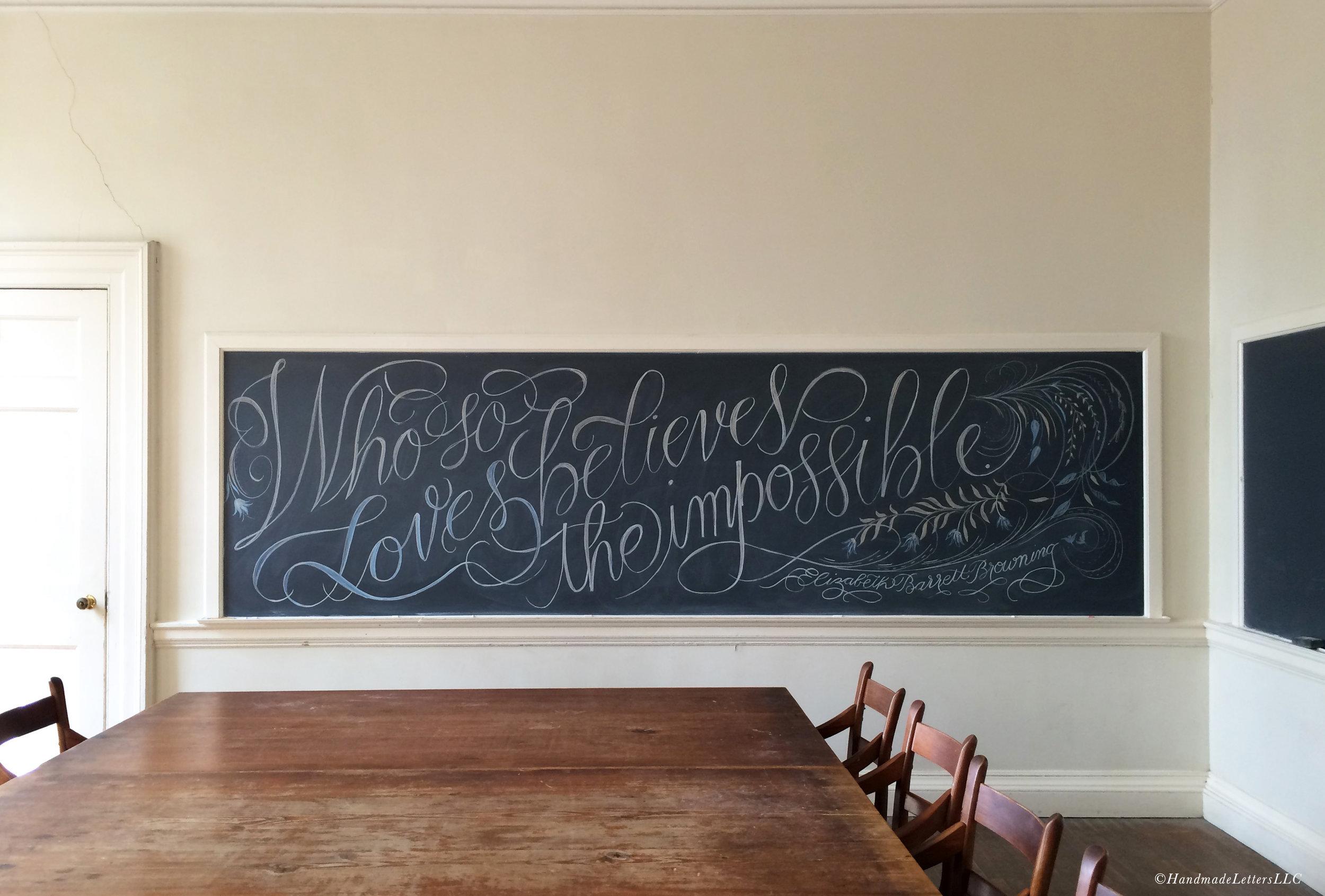 Handmade Letters - Hand-Lettered Chalkboard