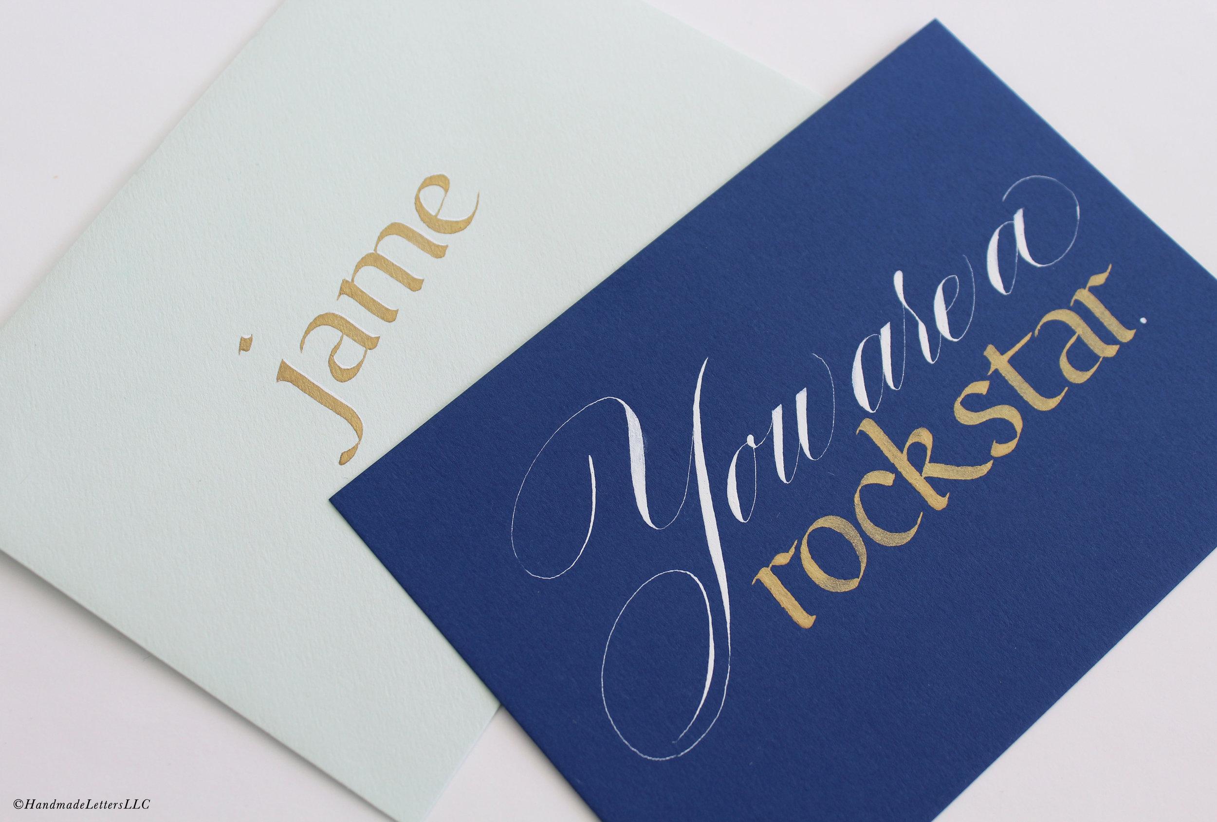 Handmade Letters - Letter for Jame