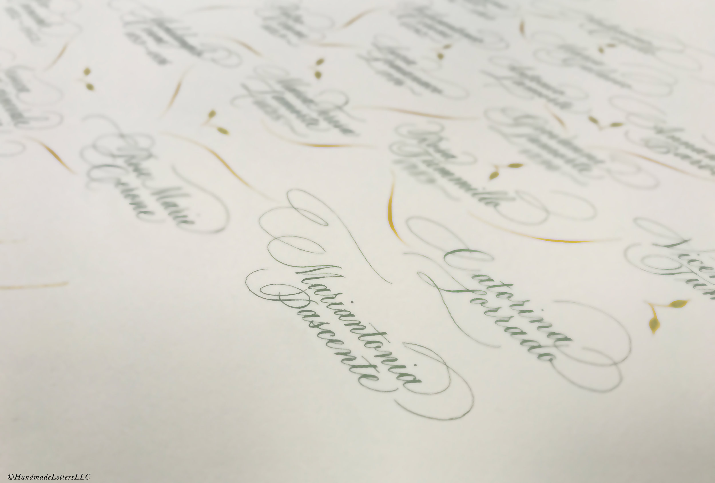 Handmade Letters - Modern Genealogy Tree