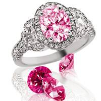 ©Suncrest Diamonds. Formerly brown diamonds now pink after HPHT treatment.