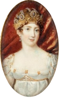 Anne-Louis Girodet's portrait of Hortense de Beauharnais { Source }