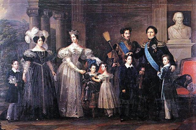 Fredric Westin's  Bernadottes of Sweden1837 {Source}