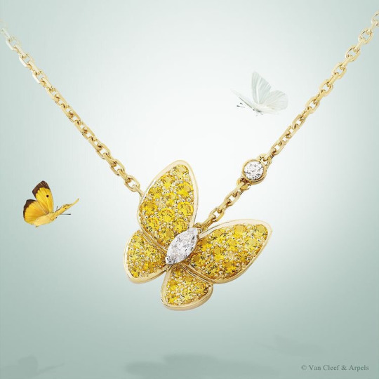 Diamond and Golden sapphire necklace by Van Cleef & Arpels