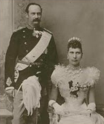 Queen Louise (with King Frederik VIII) in the Tiara
