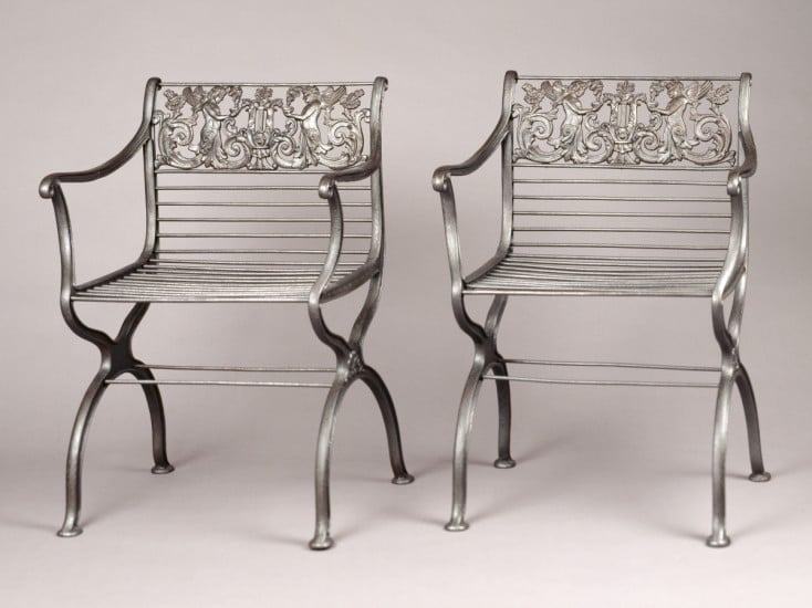 BERLIN IRON CHAIRS BY FAMOUS ARCHITECT AND ARTIST KARL FRIEDRICH SCHNIKEL. COURTESY OF THE BIRMINGHAM MUSEUM OF ART