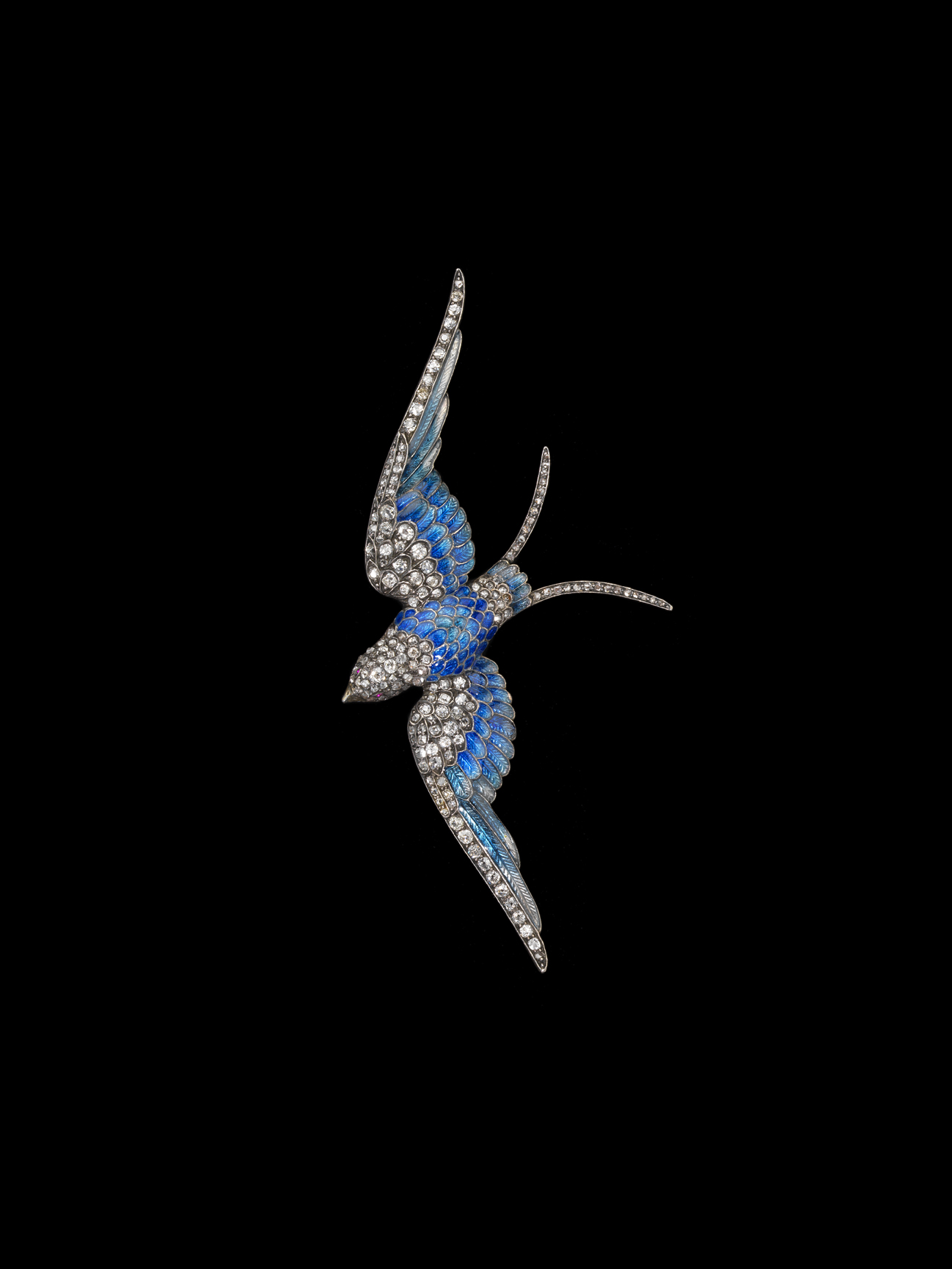 Blue Bird, circa 1880. Anton Lachmann, Austria. Photo by JohnBigelow Taylor.Albright wore this blue-bird pin when, in 1996, airplanes carrying four Cuban-Americanfliers were shot down off the coast of Florida.