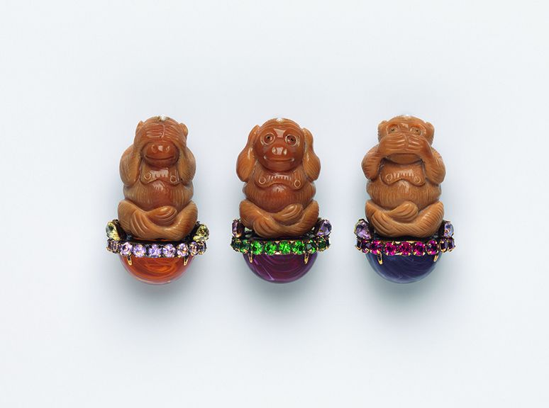 "Iradj Moini Hear No Evil, Speak No Evil, See No Evil, 2000. ""When I went to Russia with President Bill Clinton for a summit, I wore a pin with the hear-no-evil, see-no-evil, speak-no evil monkeys, because the Russians never would talk about what was really going on during their conflict with Chechnya. President Vladimir Putin asked why I was wearing those monkeys. I said, because of your Chechnya policy. He was not amused."""