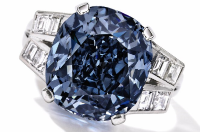 Blue Diamond Ring being Auctioned by Sotheby's in April