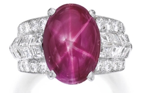 Star Ruby and Diamond Ring by Cartier, sold by Sotheby's
