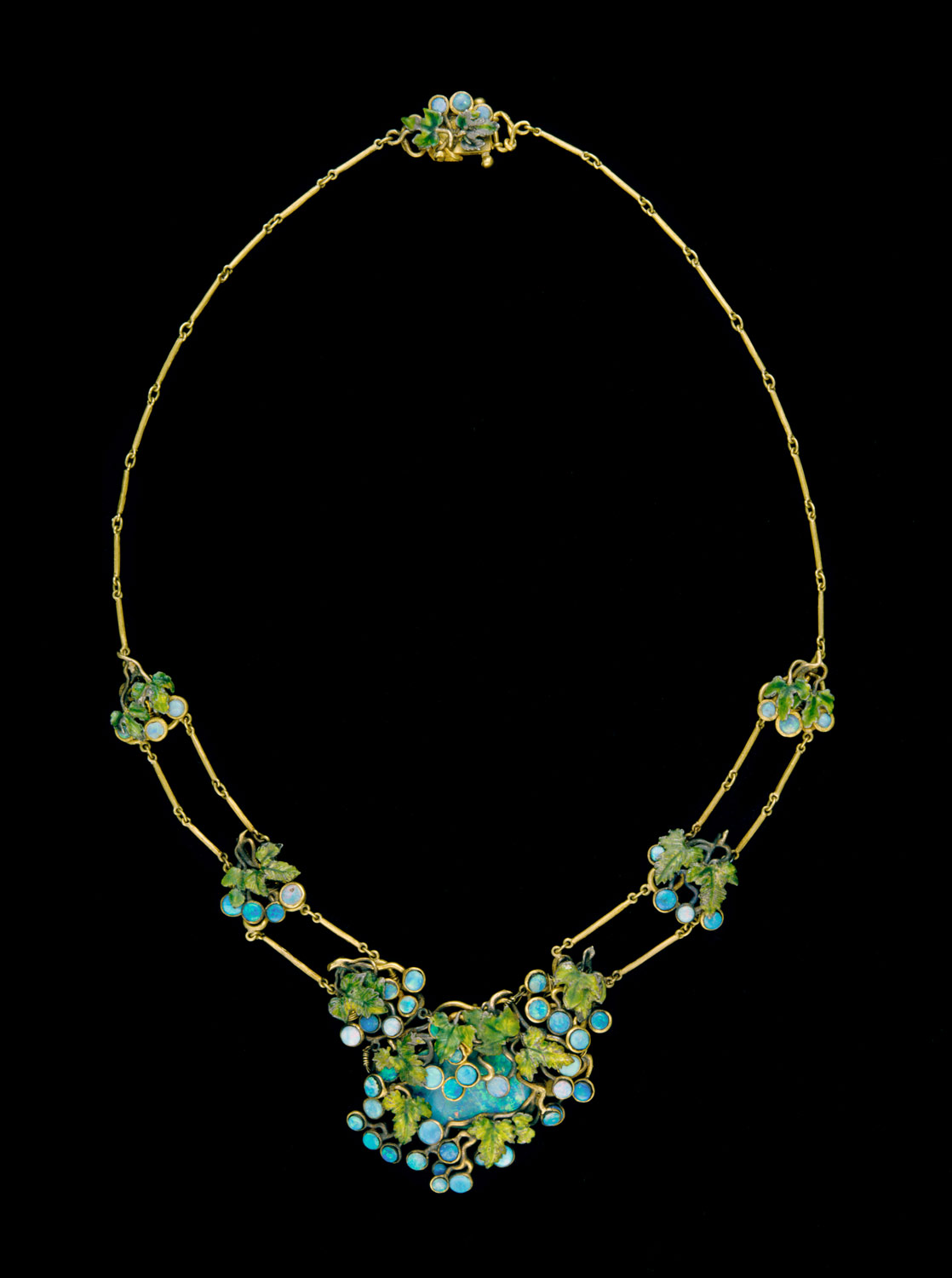 Louis Comfort Tiffany (American, New York 1848–1933 New York) Date: ca. 1904. Opals, gold, enamel. Photo Courtesy of the MET Museum.