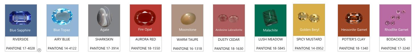pantone stones