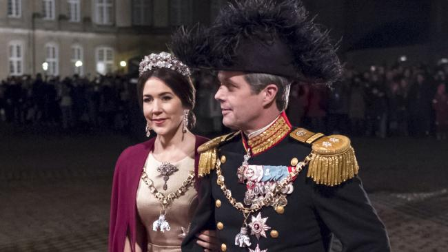 Princess Mary and Prince Frederik of Denmark at the annual royal New Year's Banquet