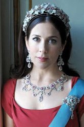 Princess Mary in the ruby Parure