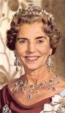 Queen Ingrid in the altered tiara