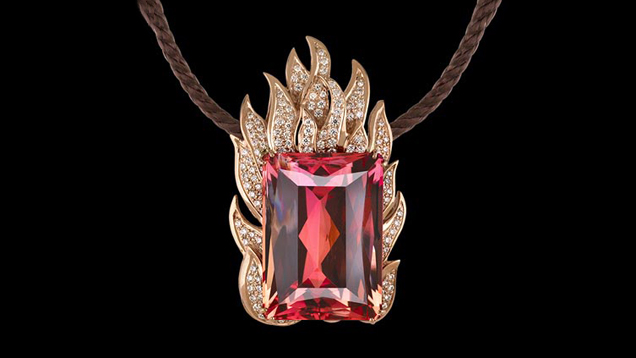 """THE 97.45-CARAT BLAZE IMPERIAL TOPAZ IS IN THE COLLECTION OF THE FIELD MUSEUM OF NATURAL HISTORY. - (PHOTO: """"GEMS AND GEMSTONES: TIMELESS NATURAL BEAUTY OF THE MINERAL WORLD"""" BY GRANDE & AUGUSTYN, U OF CHICAGO PRESS.)"""