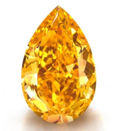 The Orange:14.82 carat fancy vivid diamond Sold by Christie's for $35.5 million dollars.