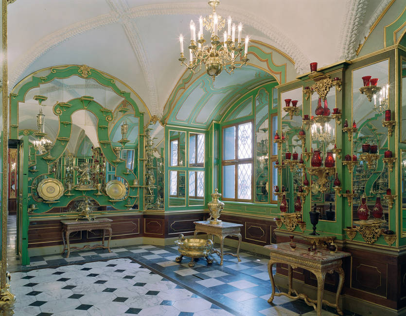 The Green Vault in Dresden Palace's west wing