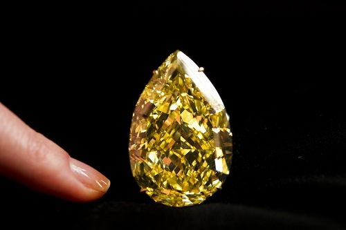 The 110.30 carat Cora Sun-Drop Diamond