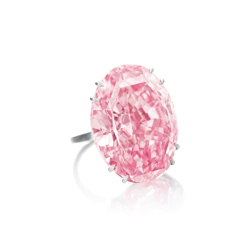 The Pink Star:  59.6 carats was the largest internally flawless, fancy vivid pink diamond ever graded by the Gemological Institute of America, according to Sotheby's.
