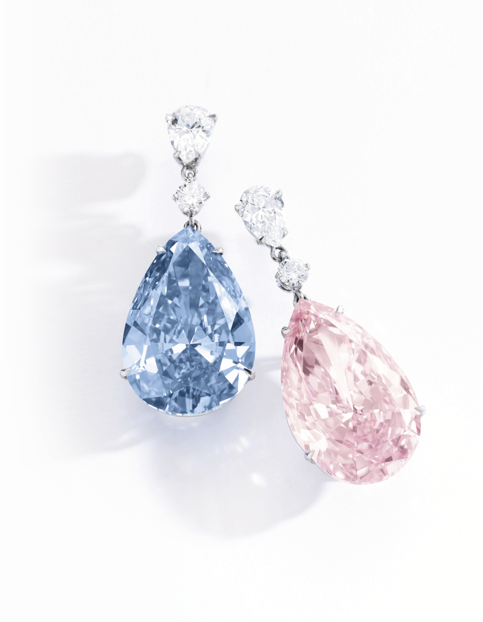 'Apollo & Artemis' fancy blue and fancy pink diamonds.