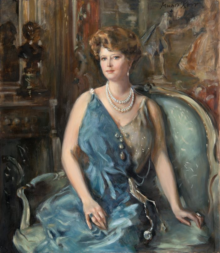 Claudia Munro Kerr's interpretation of a portrait of Maisie, originally painted by the portraitist Alphonse Jungers