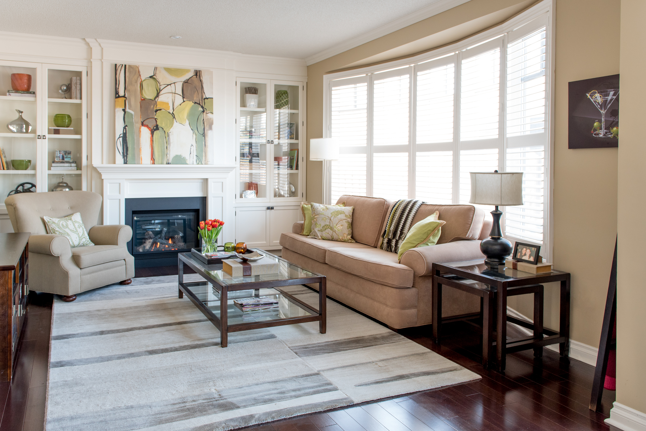Love the warmth of the Family Room!