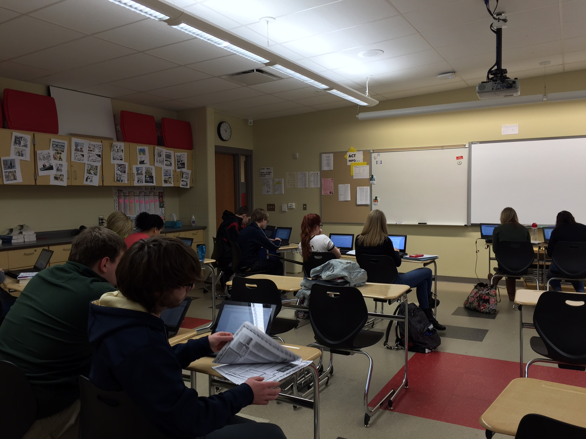 Students at Orrville High School use Chromebooks in the classroom as part of the 1:1 technology program.