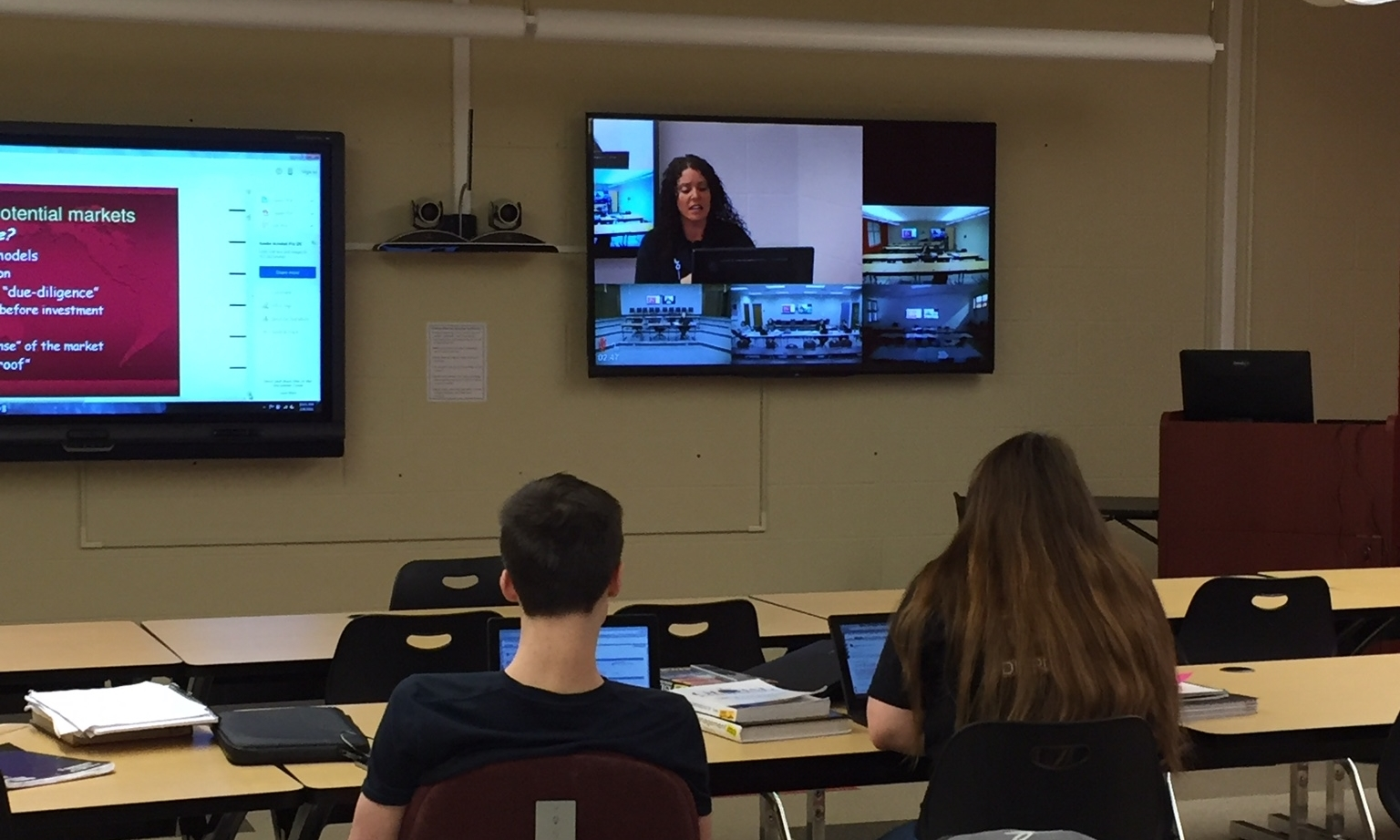 Orville students use distance learning opportunities to take college courses.
