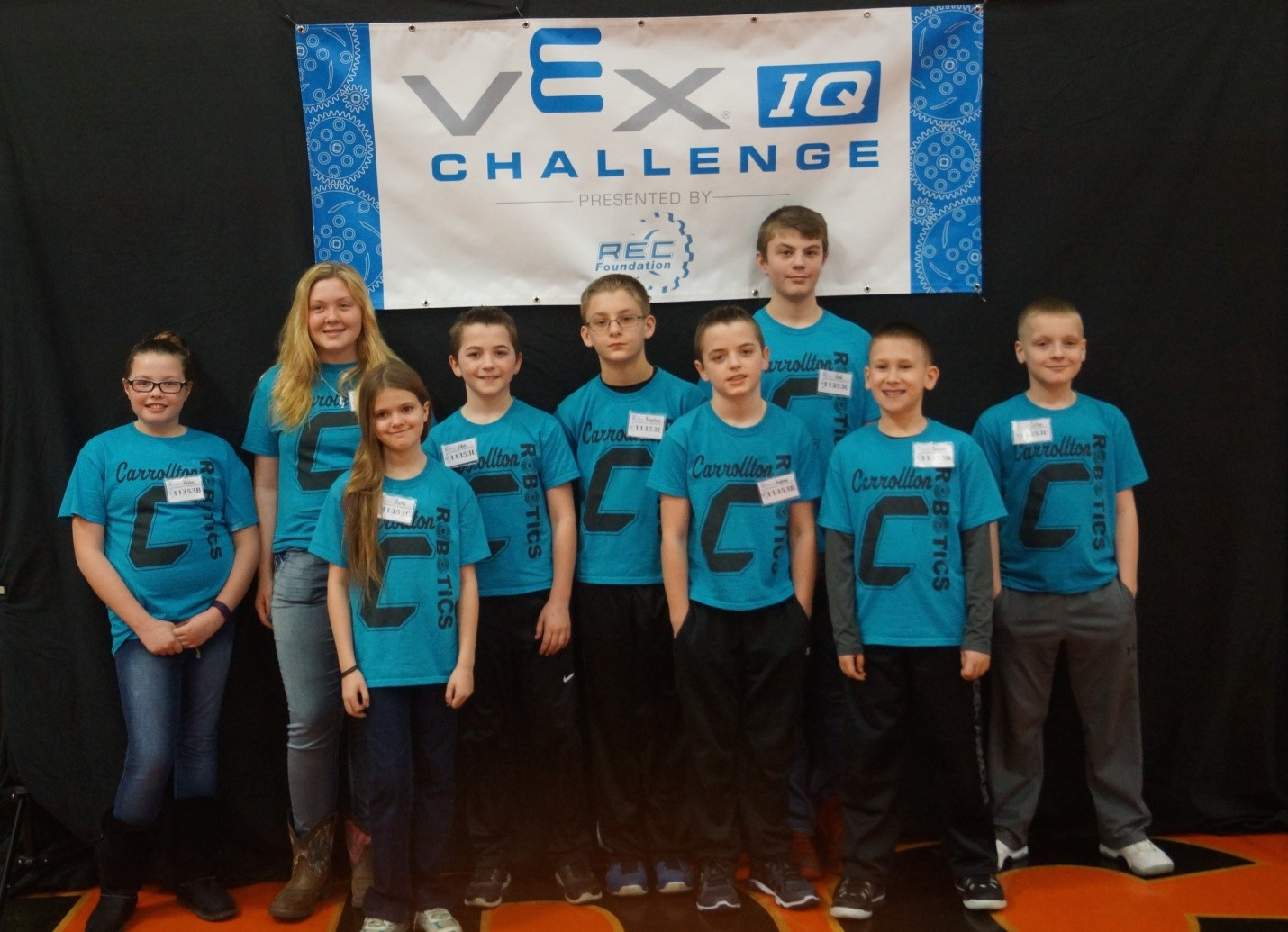 Pictured left to right:  Back row: Kaylee Joseph, Chandra Brammer, John Paul Birong, Braxton Swearingen, Kodi Wells, Collyn Grove; Front row: Ruth Davis, Andrew Birong, Grayson Rodgers