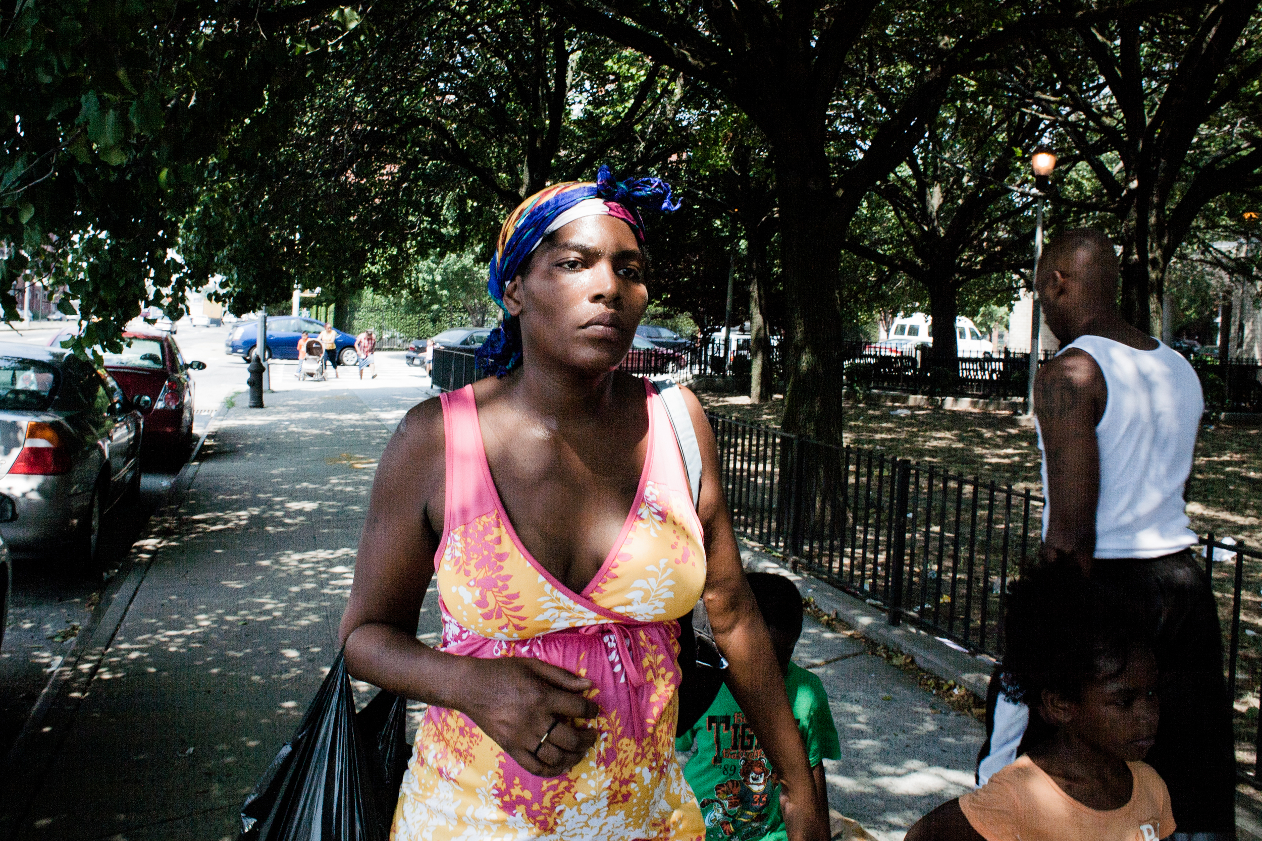 Roberta walks to the NYCHA offices in Downtown Brooklyn, 2010.