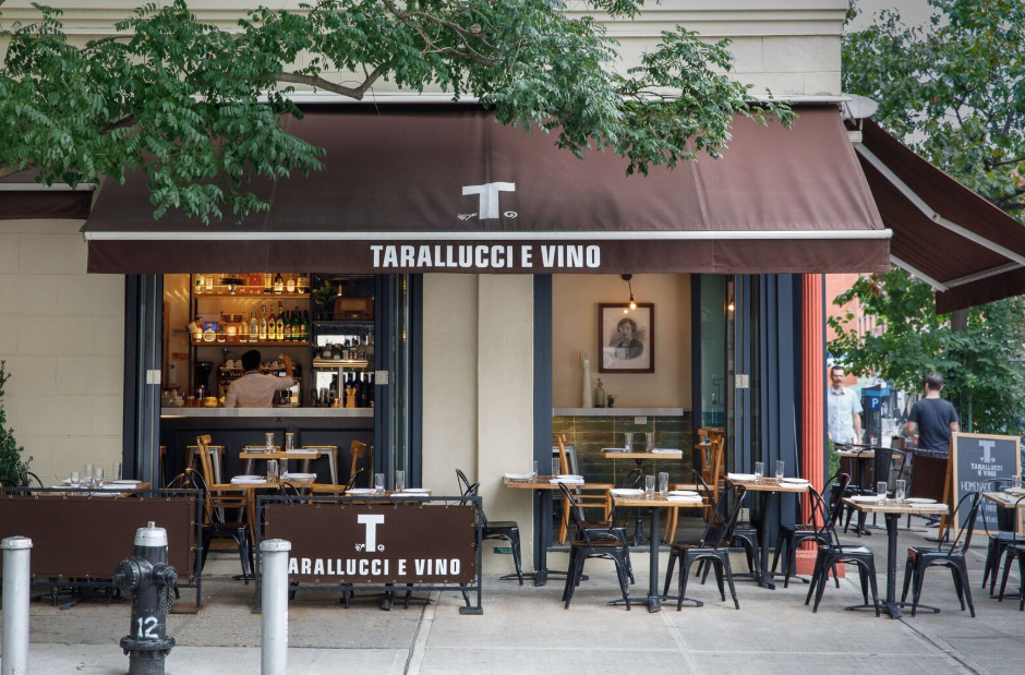 Outdoor view of Tarallucci e Vino - East Village patio.