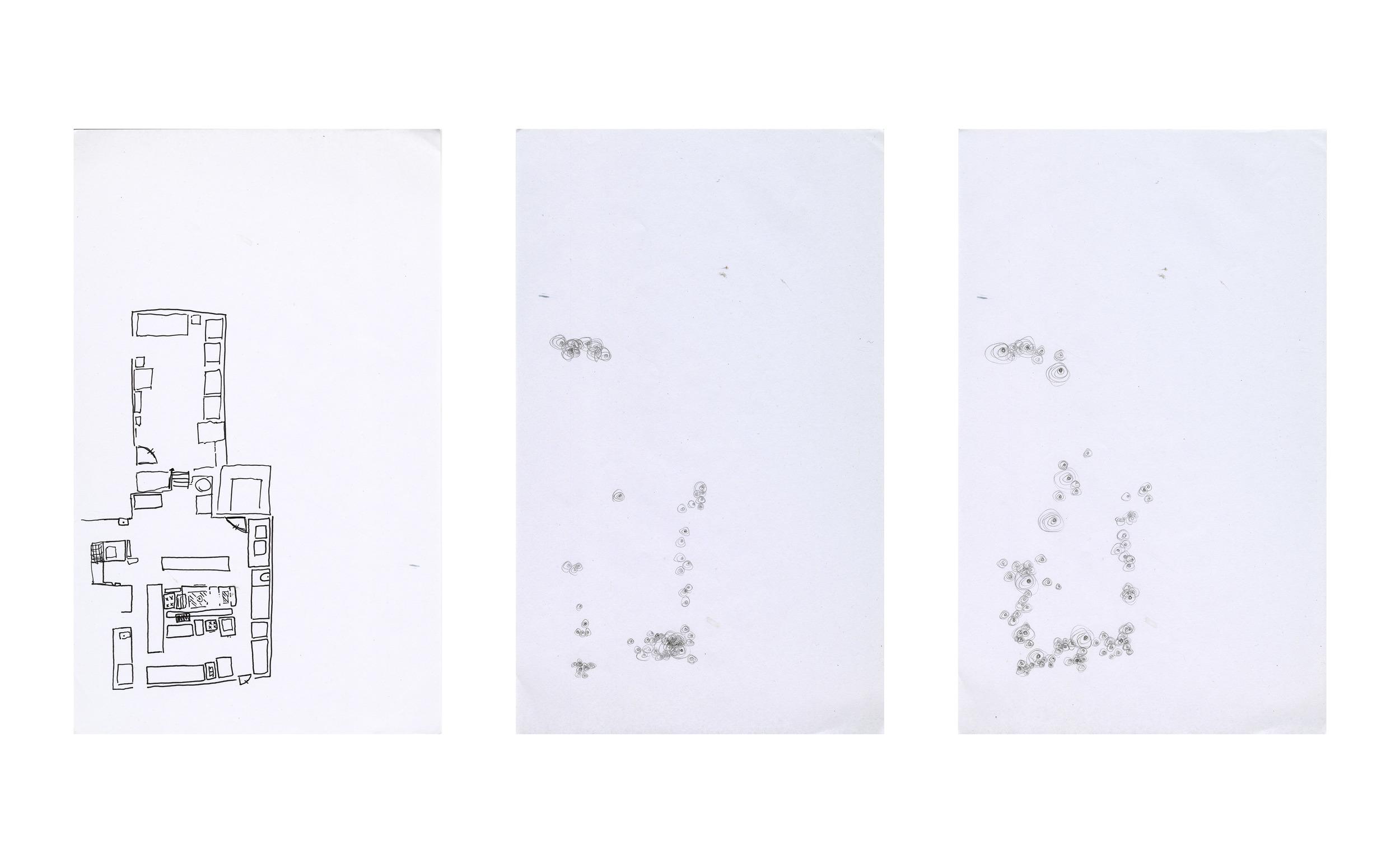Soundmaps , ink on paper, 8.5 x 13 in.,Castagna Restaurant, Portland OR (2015)