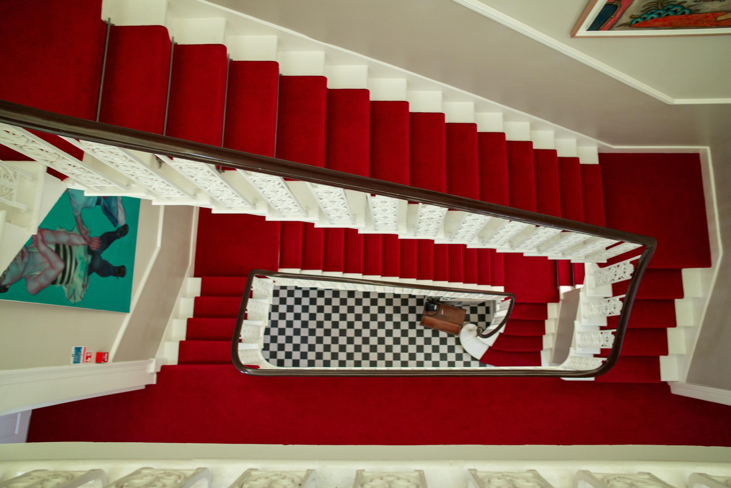 Art filled Stairwell.
