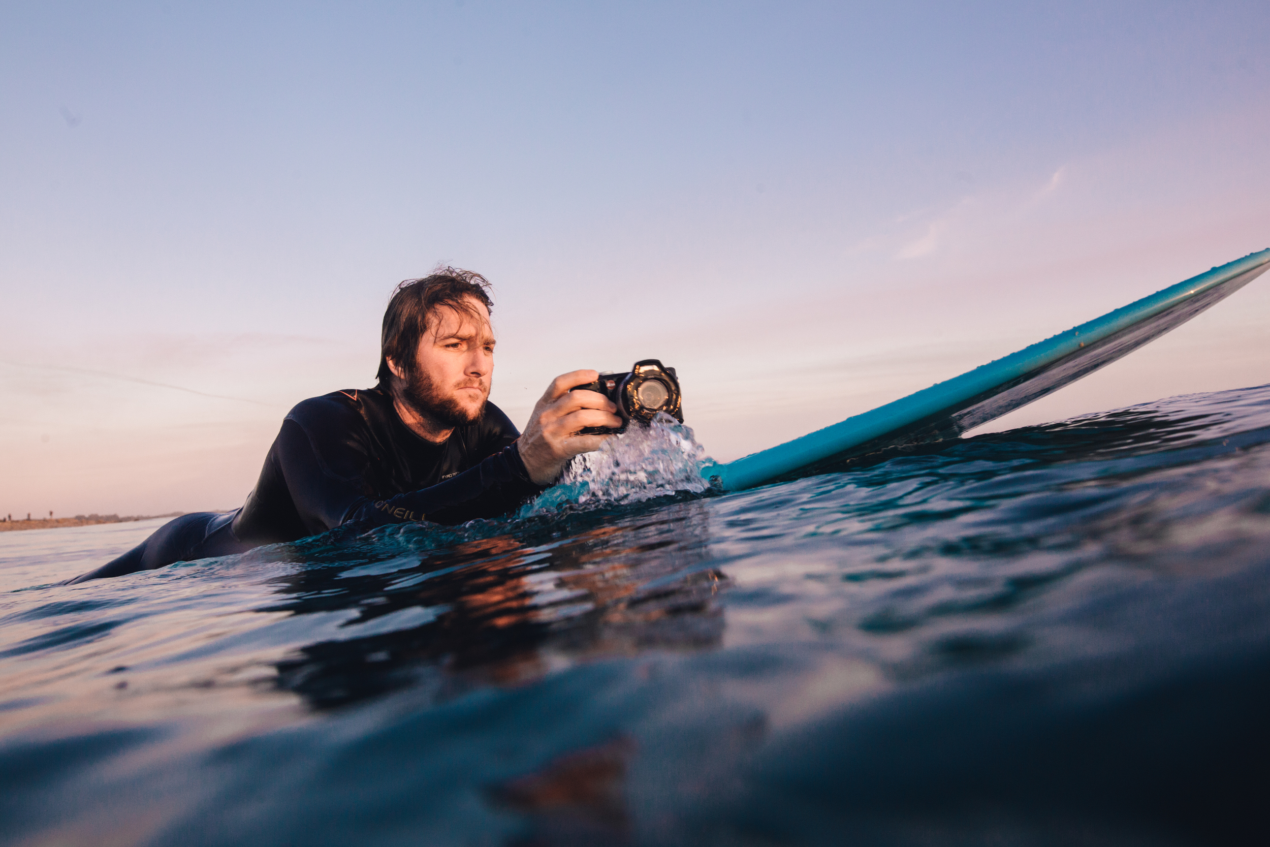Taking the new Leica X-U for a surf/shoot. Photo by: Peter Armend