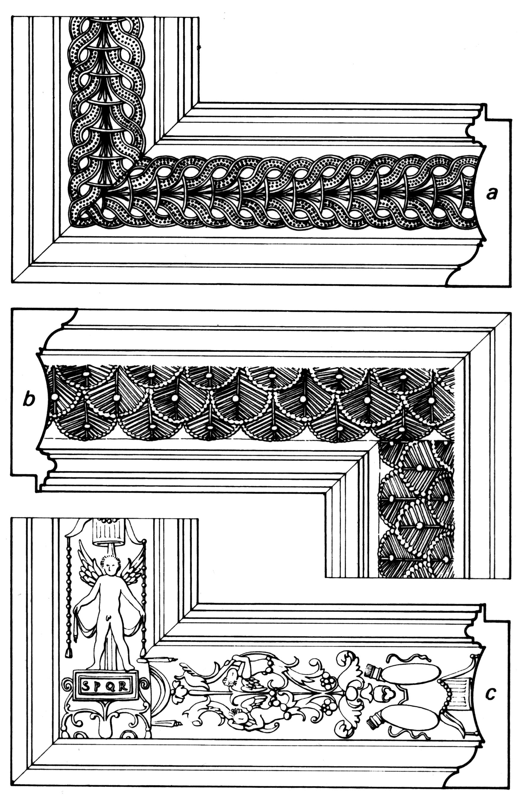 Рис.12 Итальянские рамы cassetta с фризом в технике пастилья