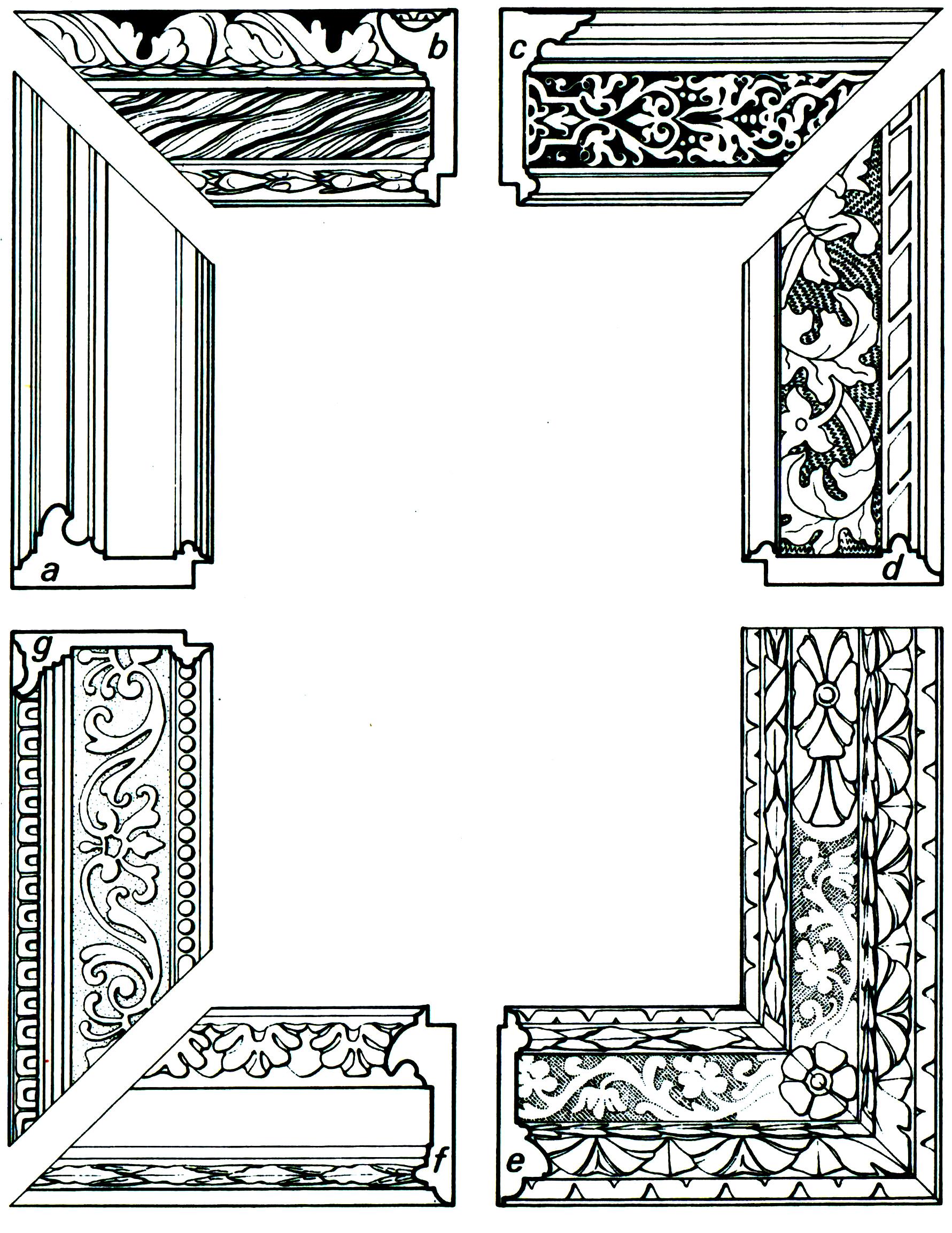 Рис.13 Итальянская рама cassetta со сплошным узором