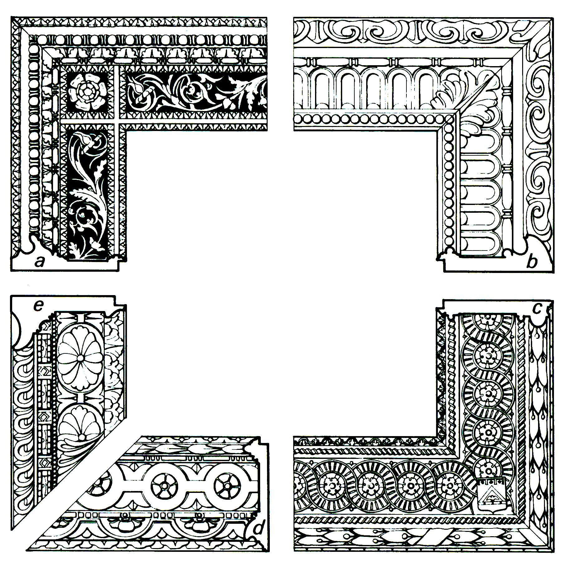 Рис.15 Итальянская архитектурная рама cassetta с общим узором