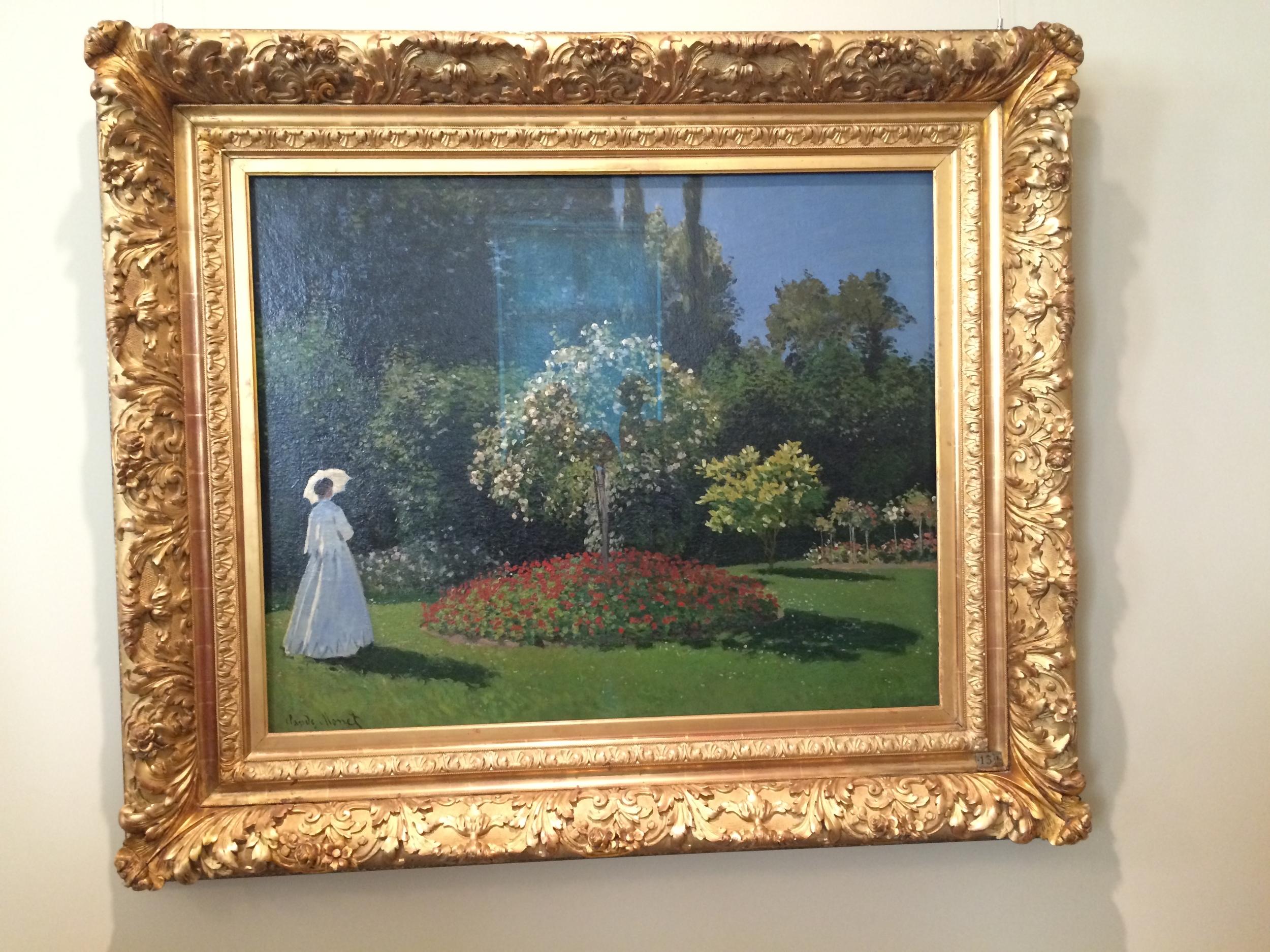 """Рис.5аКлод Мане """"Дама в саду"""", 1867"""