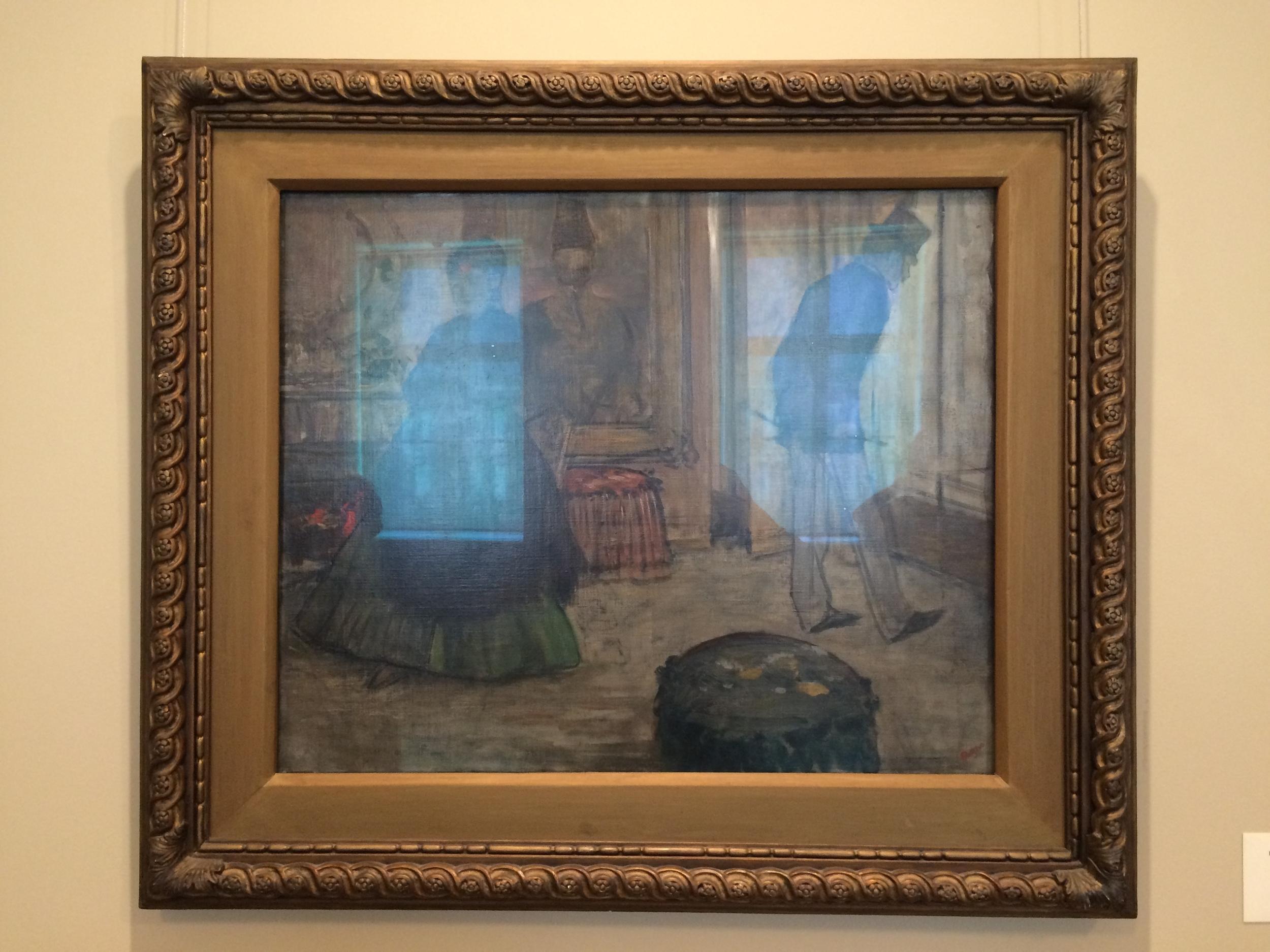 "Рис.19а Эдгар Дега ""Интерьер с двумя фигурами"", ок.1869"