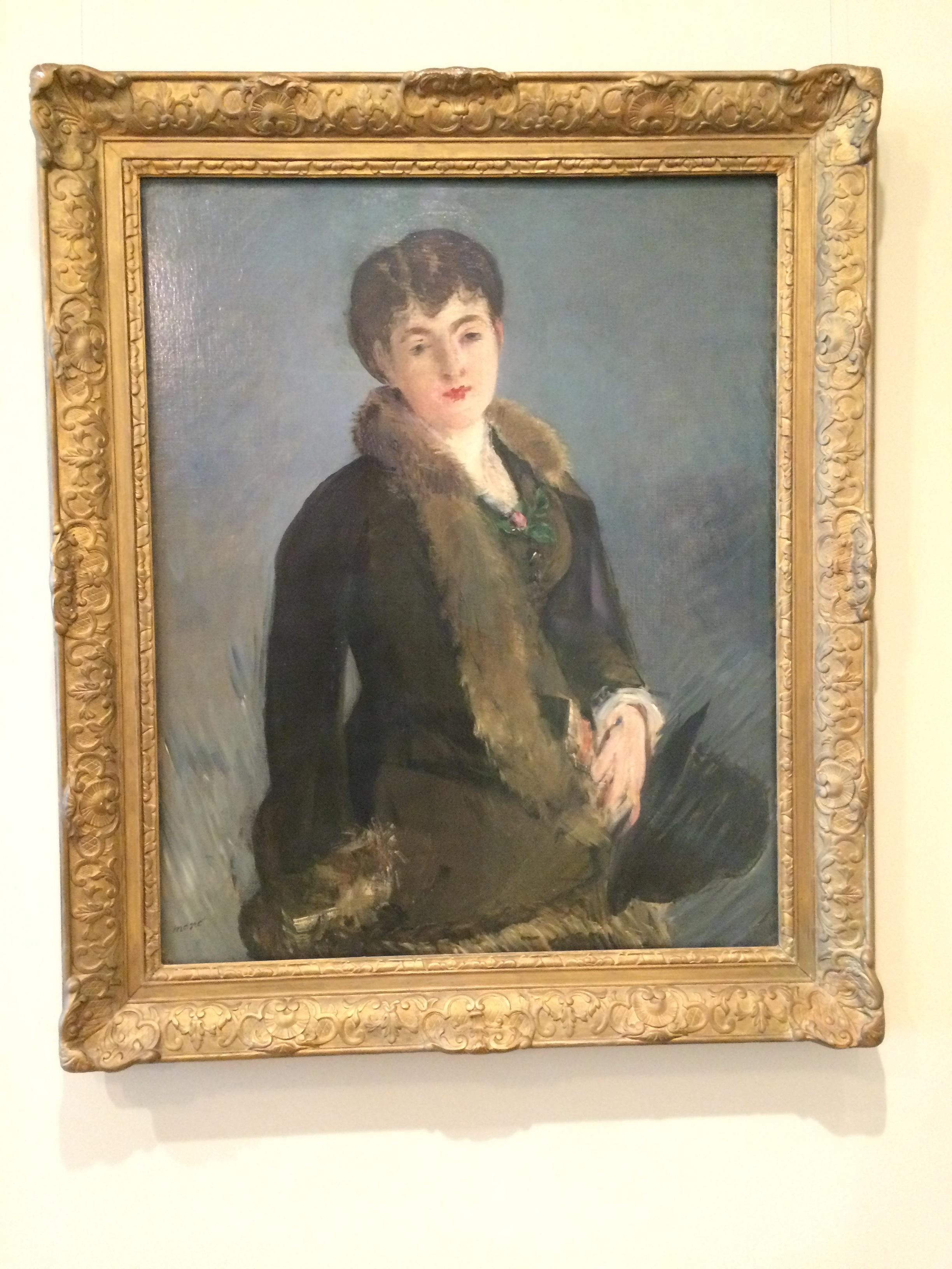 """Рис. 2аЭдуард Мане """"Портрет м-ль Изабель Лемонье"""" (ок.1879)"""