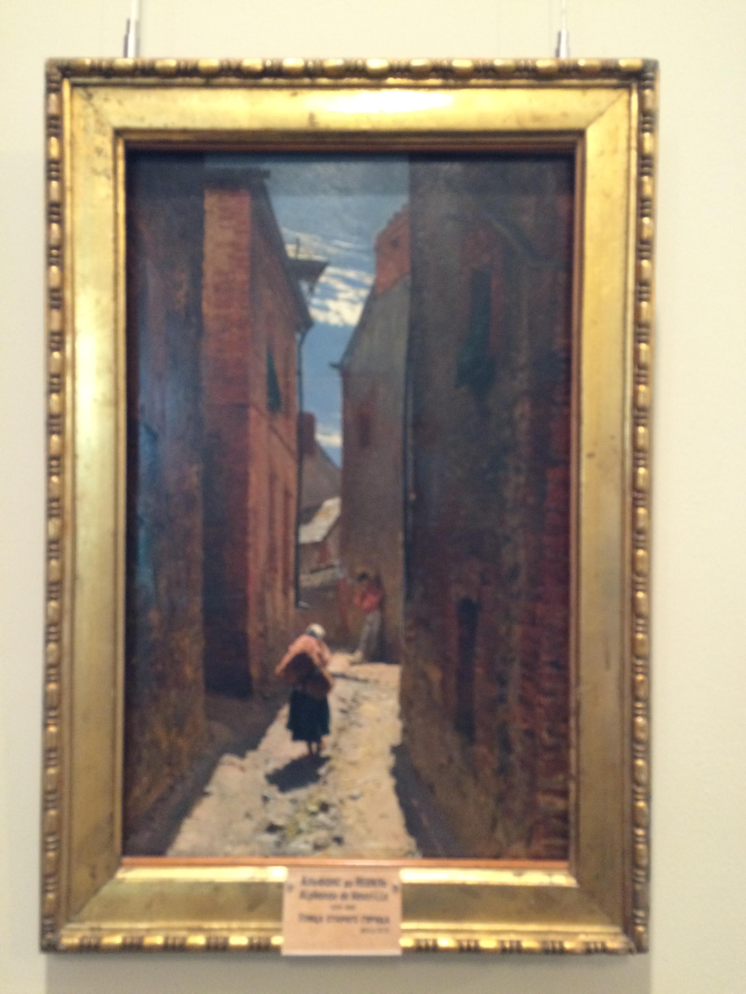 """Рис. 3аАльфонс-Мари де Невиль """"Улица старого города"""" (1873)"""
