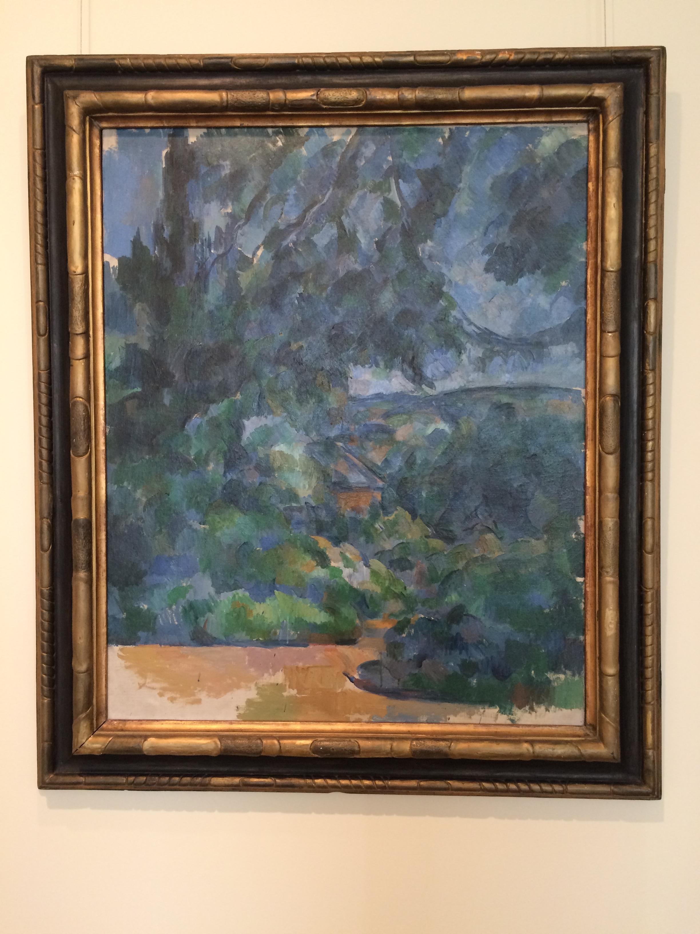 """Рис. 12аПоль Сезанн """"Голубой пейзаж"""" (ок. 1904-1906)"""
