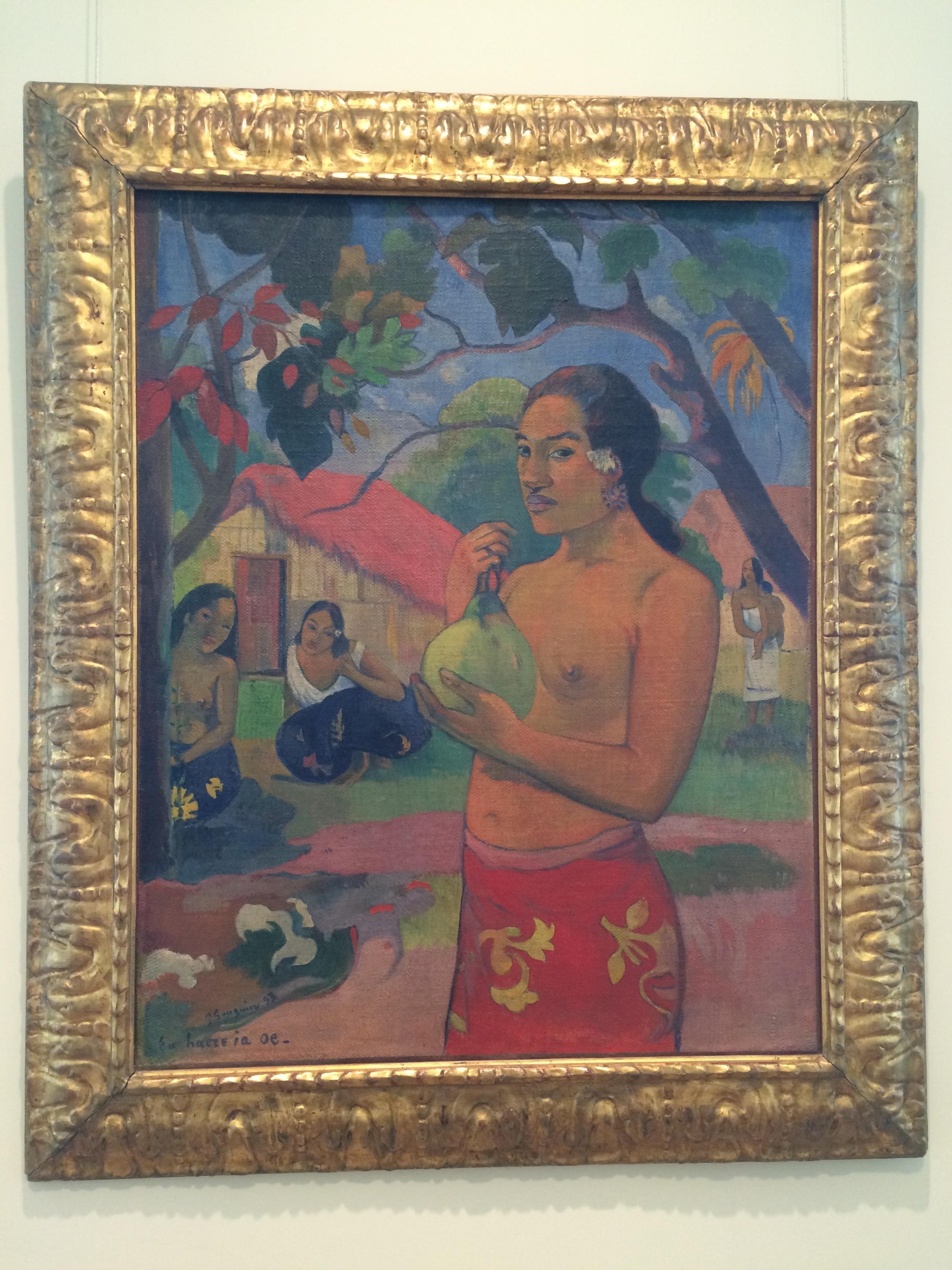 """Рис. 13аПоль Гаген """"Eu haere ia oe. Женщина, держащая плод"""" (1893)"""