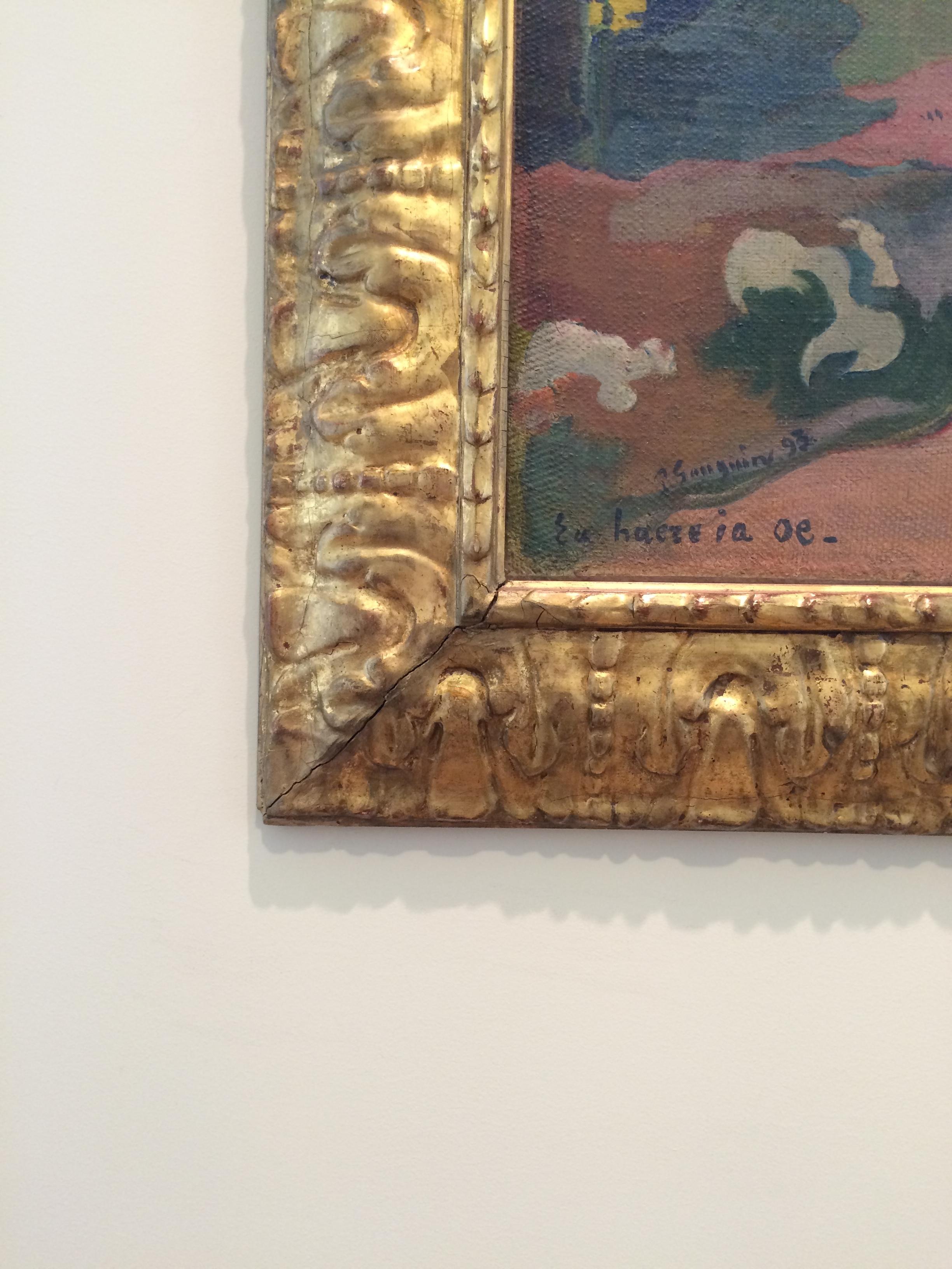 """Рис. 13бПоль Гаген """"Eu haere ia oe. Женщина, держащая плод"""" (1893)"""