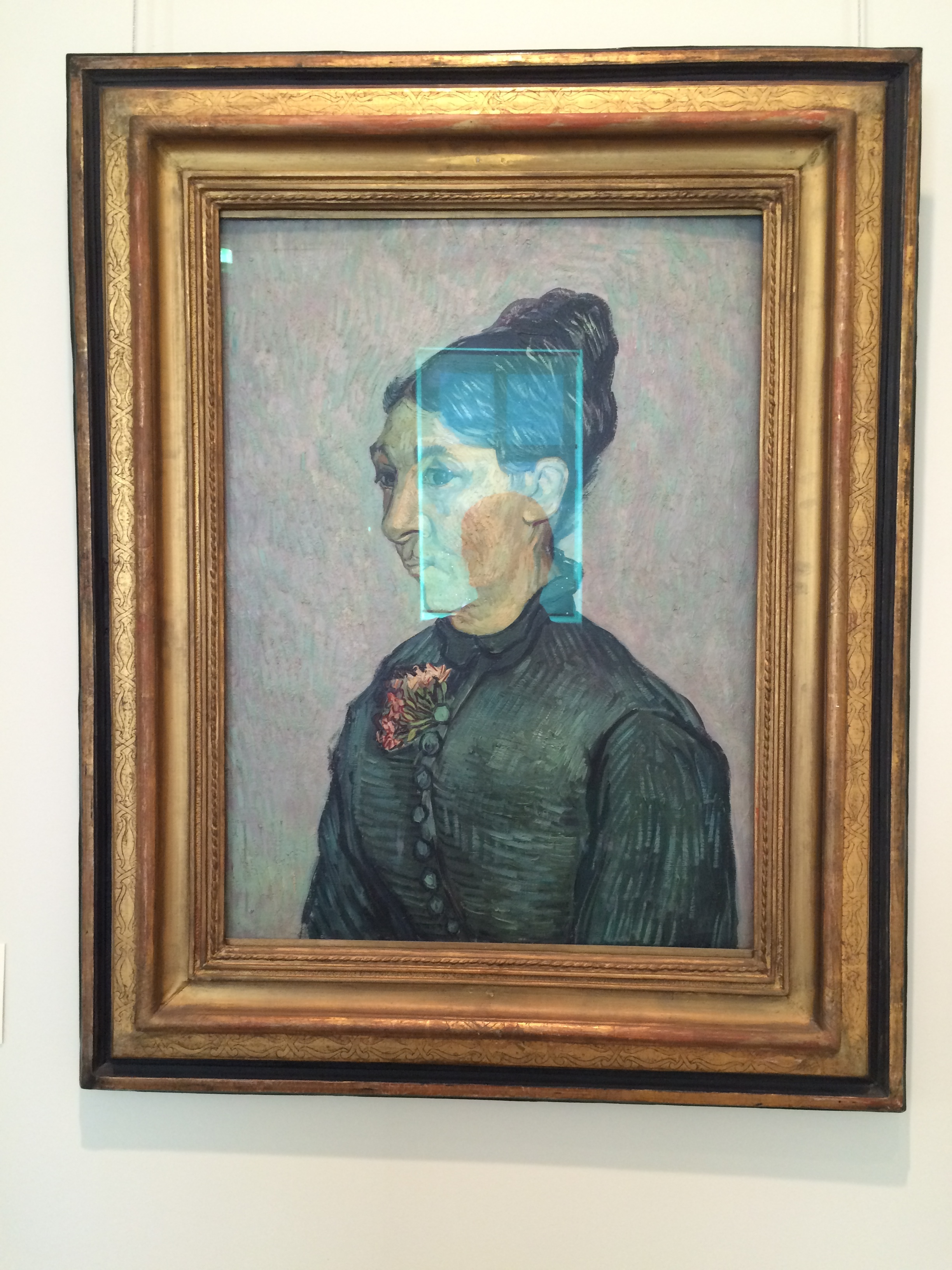 """Рис. 14аВинсент Ван Гог """"Портрет мадам Трабюк"""" (сентябрь 1989)"""
