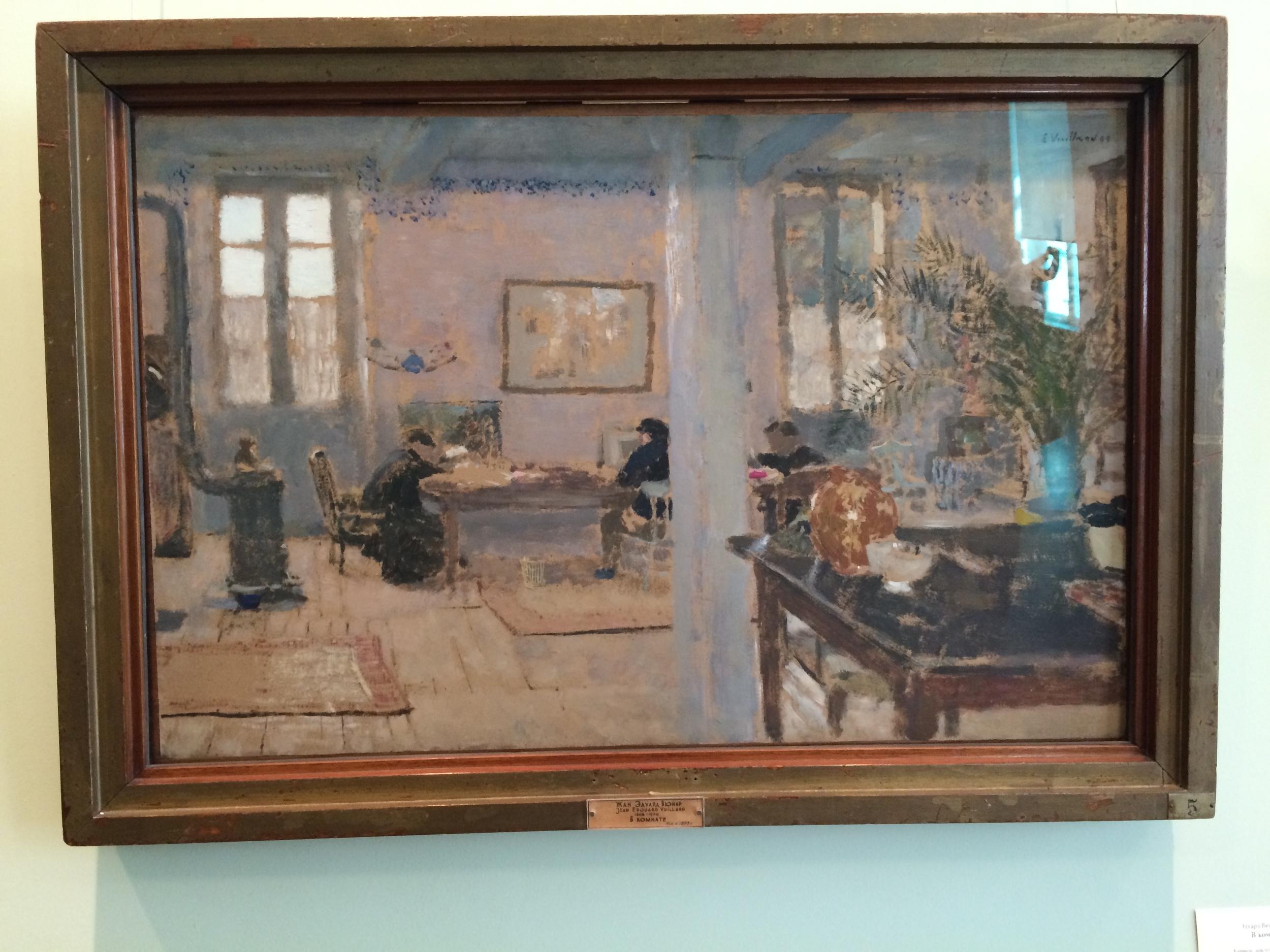 "Рис. 15аЭдуард Вюйар ""В комнате. Релэ"" (1889)"