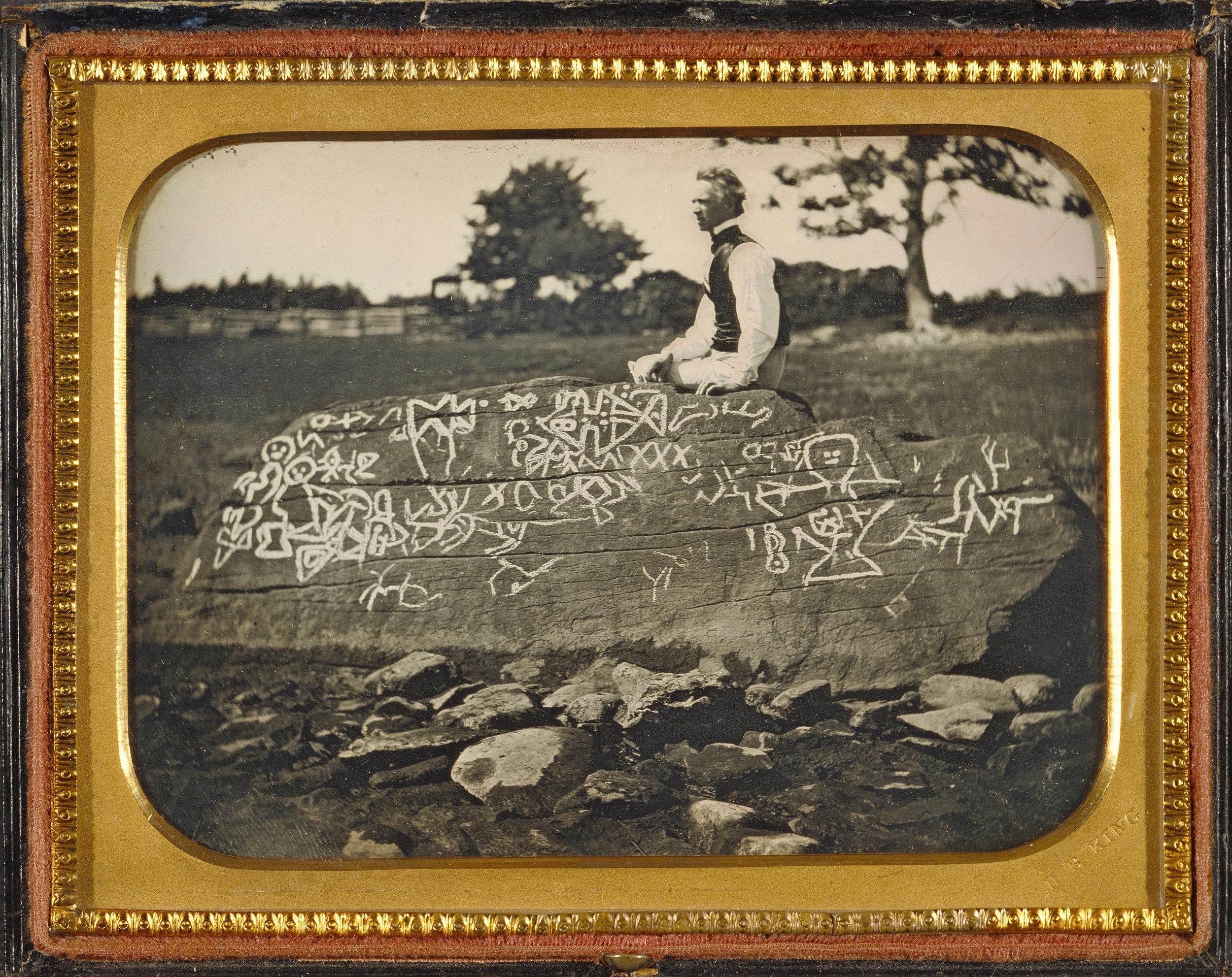 """Рис.6 Horatio B. King """"Сет Истмен на Дайтон Рок, Массачусетс"""", 1853 г."""