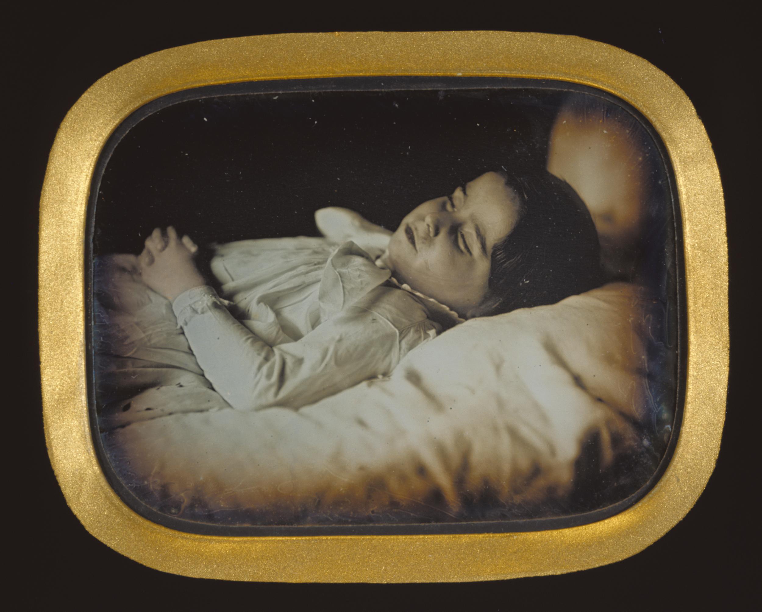 """Рис. 10 Carl Durheim """"Посмертный портрет ребенка"""", приблизительно 1852 г."""