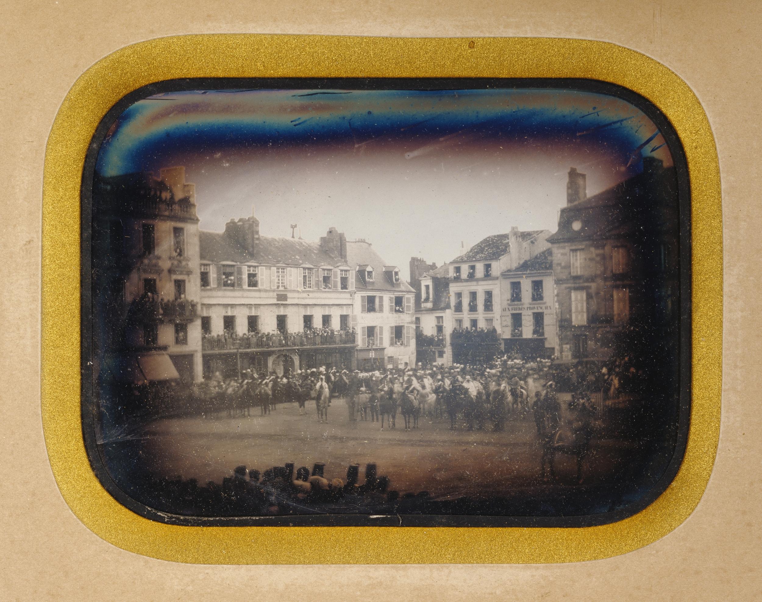 """Рис.11 """"Военный фестиваль в Пуатье, Франция"""" (автор неизвестен), 1851 г."""