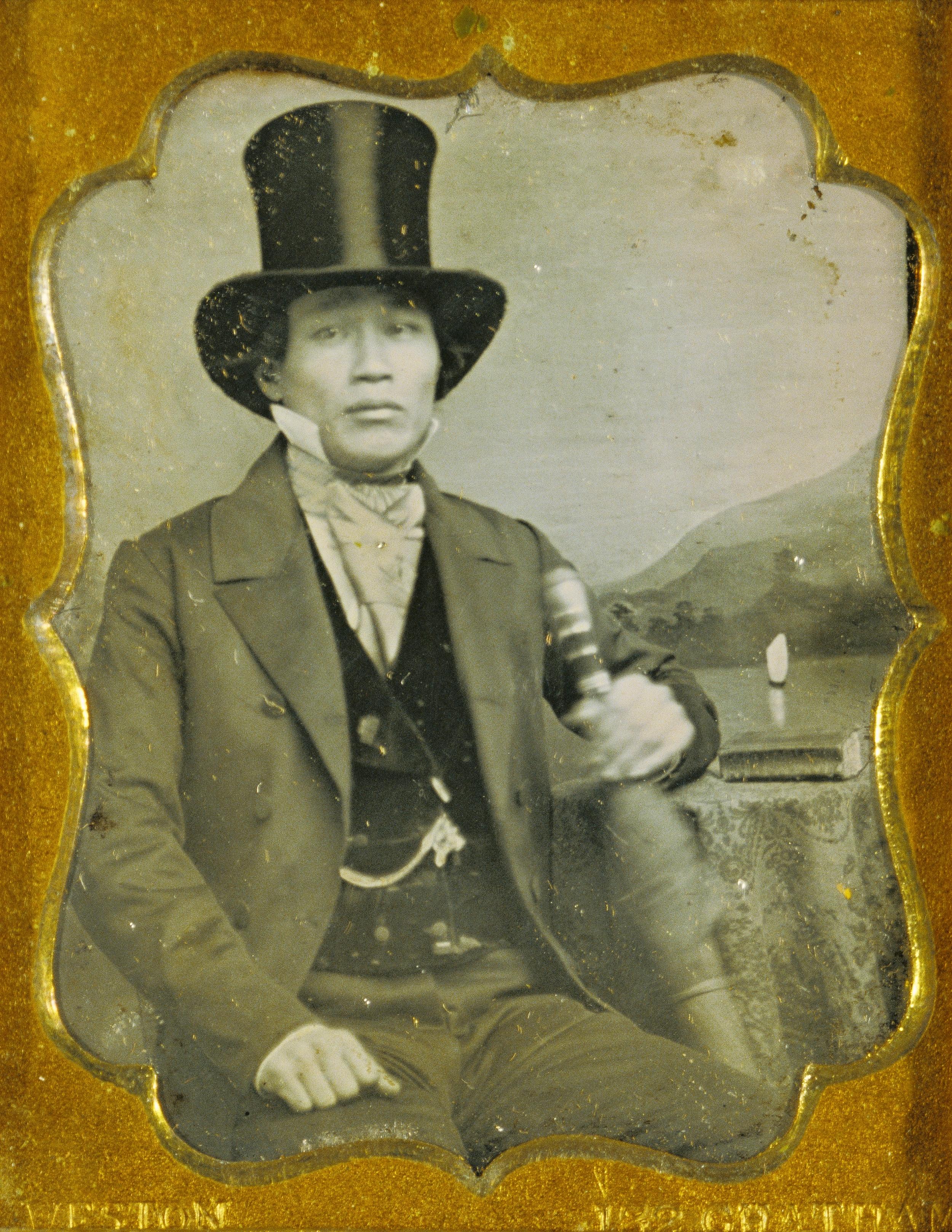 """Рис.16 James P. Weston """"Портрет мужчины в цилиндре"""", приблизительно 1856 г."""